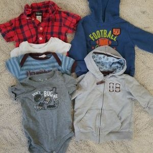 Other - 12m Bundle of 6 Hoodie and onesie